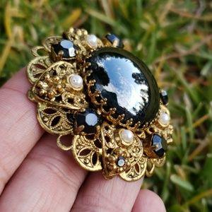 Vtg Germany  Renaissance Revival Ornate Brooch Pin